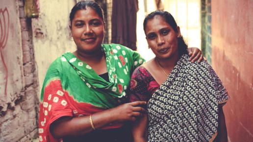Two Indian Women Facing Camera
